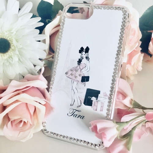 Swarovski Phone Case Parisian Girl Design