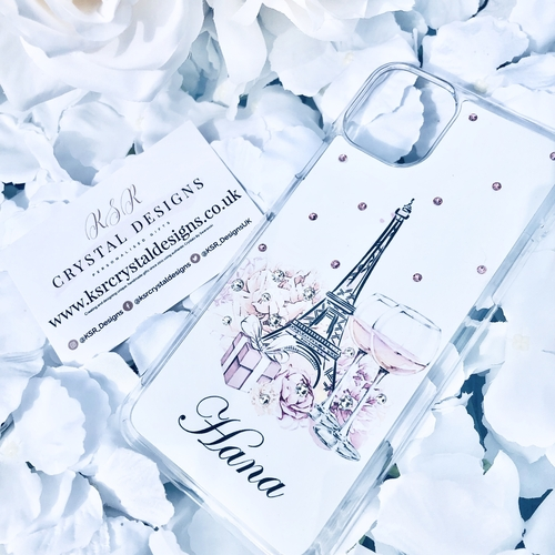 Swarovski Personalised Phone Case Paris Floral