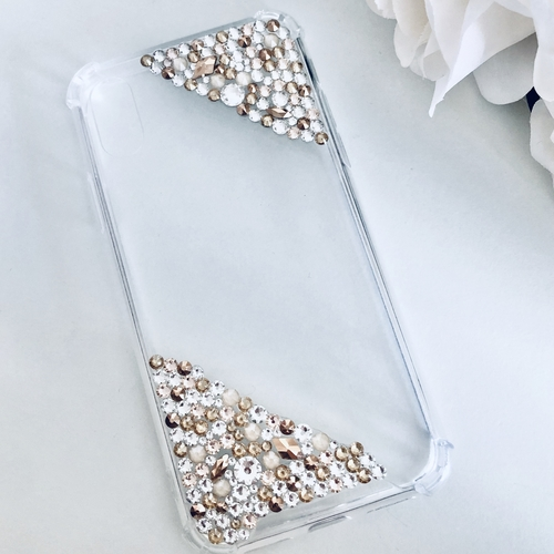 SWAROVSKI PHONE CASE GOLD MIX