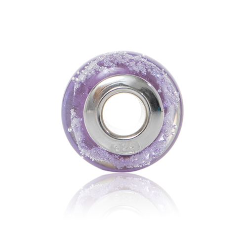 wisteria Cremation Glass Charm Bead