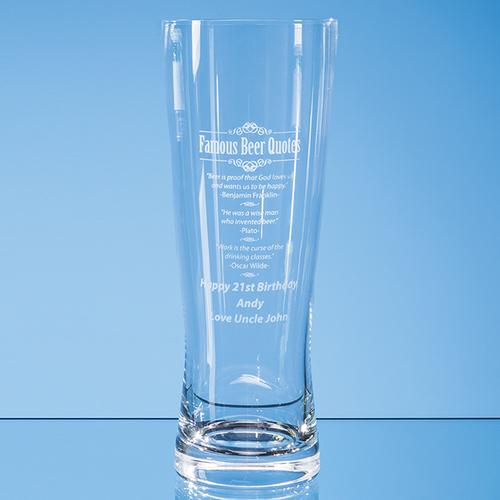 Large Handmade Beer Glass 0.7ltr