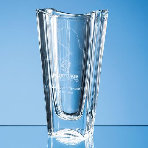 Crystalite Okinawa Tapered Vase 25.5cm
