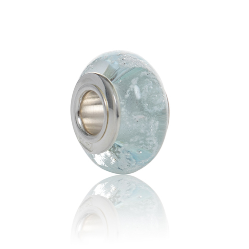 Raindrop Cremation Glass Charm Bead