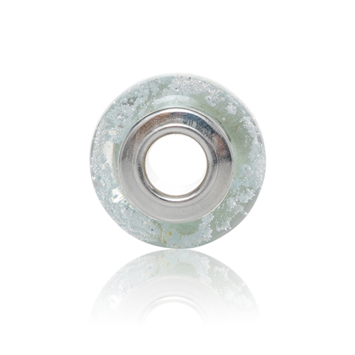Raindrop Cremation Glass Charm Bead