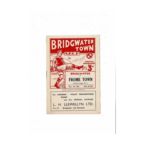 Bridgewater Town Home Football Programmes