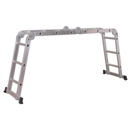 Aluminium Folding Platform Ladder 4-Way EN 131 - Sealey - AFPL1