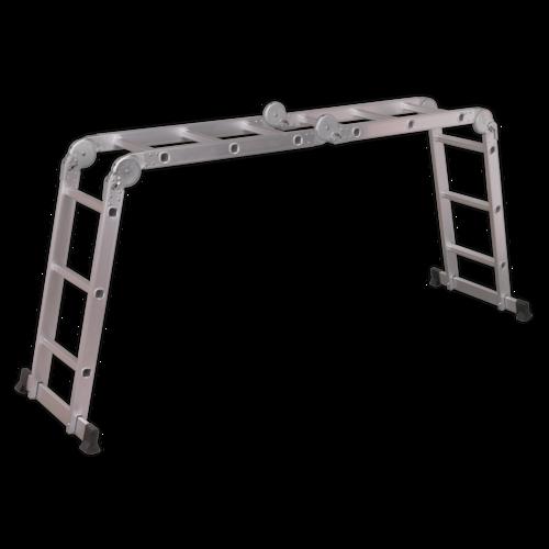 Aluminium Folding Platform Ladder 4-Way EN 131 - Sealey - AFPL1