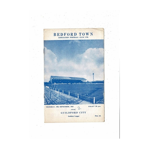 1963/64 Bedford Town v Guildford City Football Programme