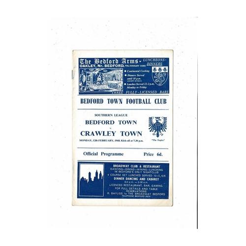 Crawley Town Away Football Programmes