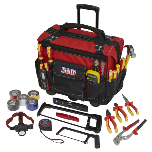 Electrician's Kit 24pc with Heavy-Duty Storage Bag - Sealey - EK1186