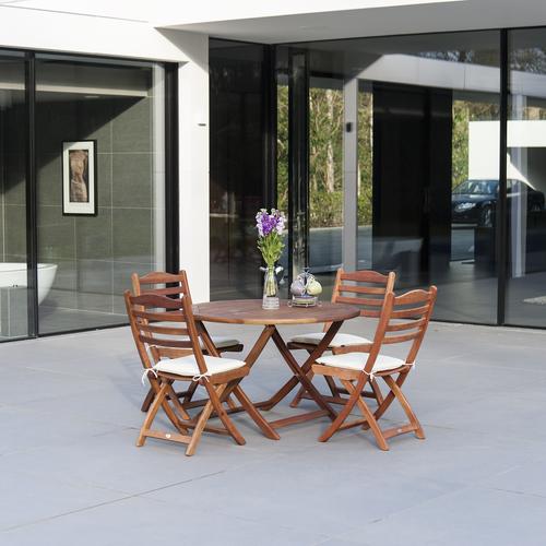 Alexander Rose Cornis Folding 4 Seat Set