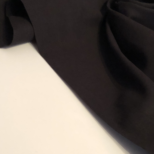 Black Linen Look Cotton 1.16m Remnant