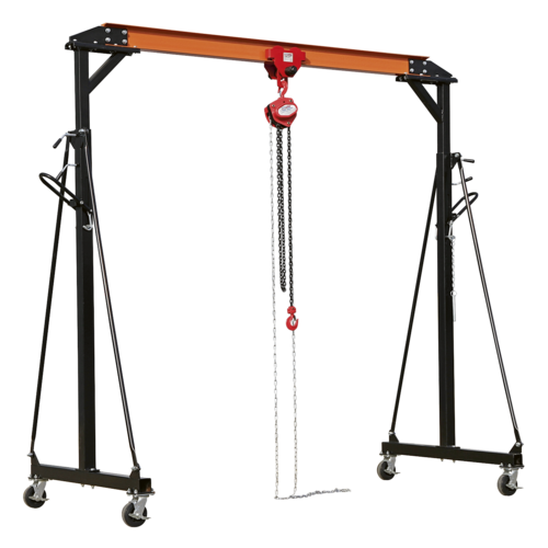 Portable Gantry Crane Adjustable 1tonne Combo - Sealey - SG1000KIT