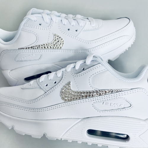Customised Nike Air Max 90 ALL WHITE (KIDS & ADULTS)