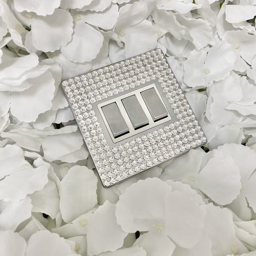 Light Switch Made with Swarovski® Crystal Elements (single, double, triple or dimmer)