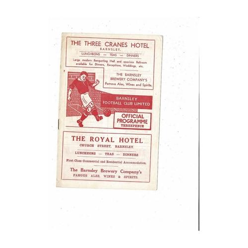 Barnsley v All Star X1 Testimonial Football Programme 1955/56