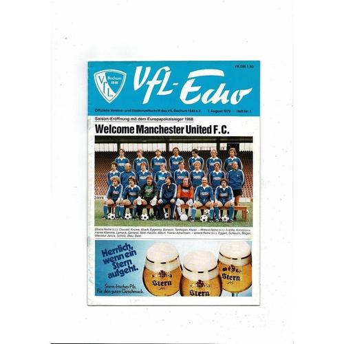 Bochum v Manchester United Friendly Football Programme 1979/80