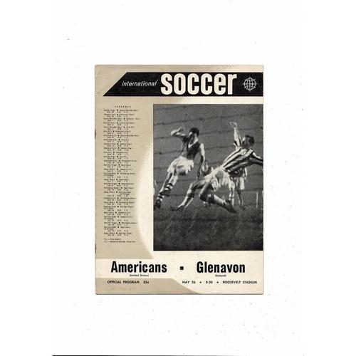 New York Americans v Glenavon Friendly Football Programme 1960