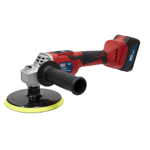 Cordless Rotary Polisher Ø150mm 18V Li-ion - Sealey - CP18VRP