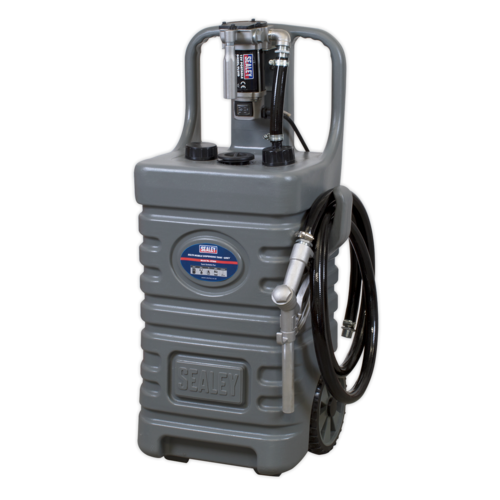 55ltr Mobile Dispensing Tank with Diesel Pump - Grey - Sealey - DT55GCOMBO1