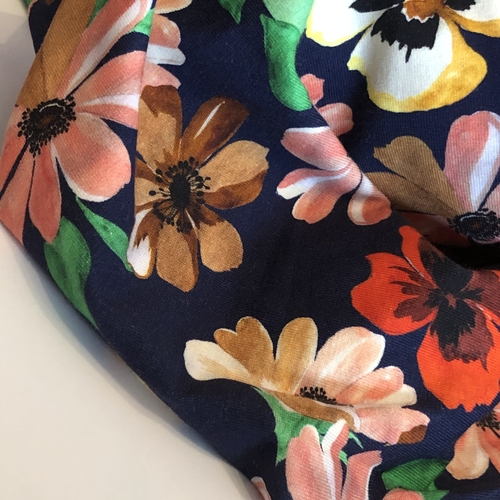 Pretty Blooms Jersey 1.5m Remnant