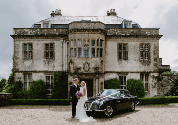 Wedding Couple outside the Hamswell House Wedding Venue, Wedding Venue Bristol, Wedding Venue Bath.