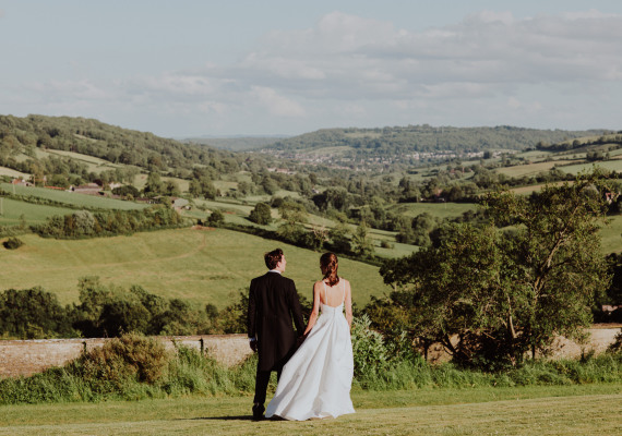 The panoramic view from Hamswell House wedding venue