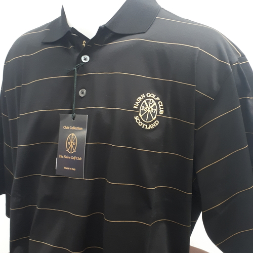 Marbas Procida Short Sleeve Polo Black/Gold