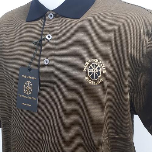 Marbas Molise Short Sleeve Polo Black/Gold