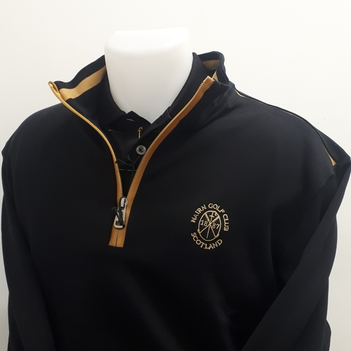 Marbas Nettuno Long Sleeve 1/4 Zip Black/Gold