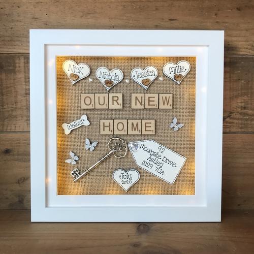LED new home frame