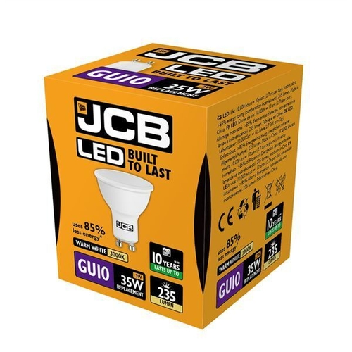 JCB LED GU10 235lm 3000K, PACK OF 1 - JCB - S10961