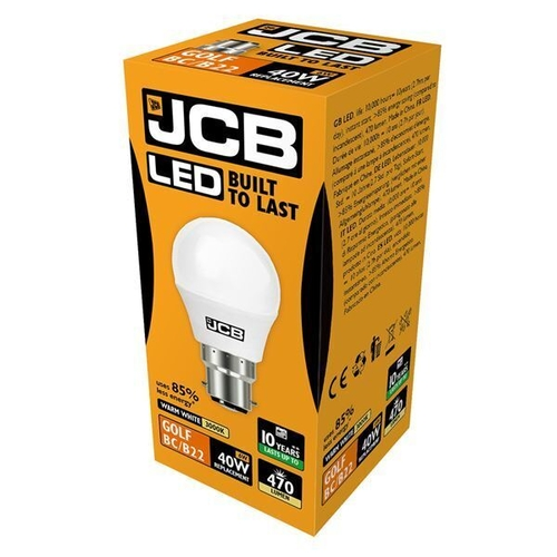 JCB LED GOLF 470lm OPAL B22 (BC) 3000K, PACK OF 1 - JCB - S10969