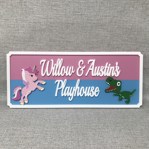 Large Dinosaur & unicorn indoor sign