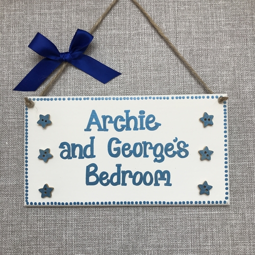 Large children's door plaque