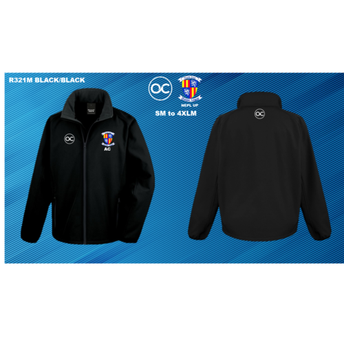 NEPL UP R231M Core printable softshell jacket Black