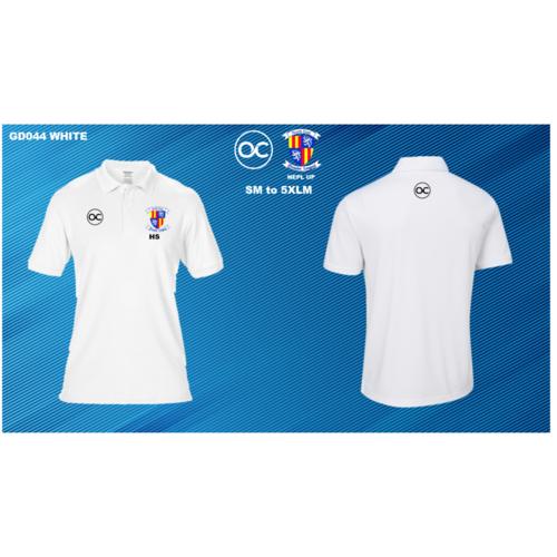 NEPL UP GD044 DryBlend® double piqué sport shirt White