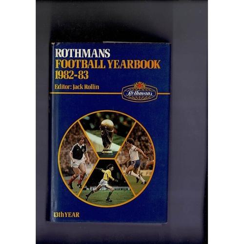 Rothmans Football Yearbook 1982/83 Hardback