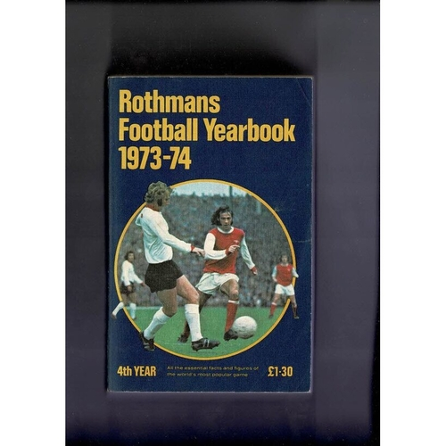 Rothmans Football Yearbook 1973/74 Softback