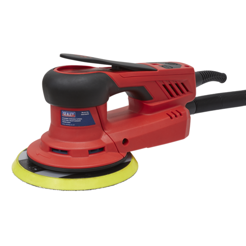 Electric Palm Sander Ø150mm Variable Speed 350W/230V - Sealey - DAS150PS