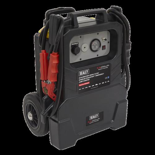 Schumacher Wheeled RoadStart® Emergency Jump Starter 12/24V 500hp - Sealey - PBIW4600