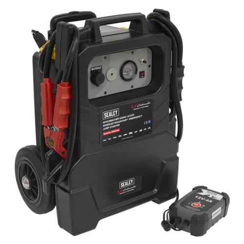 Schumacher Wheeled RoadStart® Emergency Jump Starter 12/24V 1500hp - Sealey - PBIW6200
