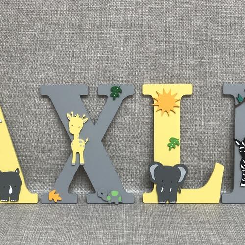 SAFARI ANIMALS letters