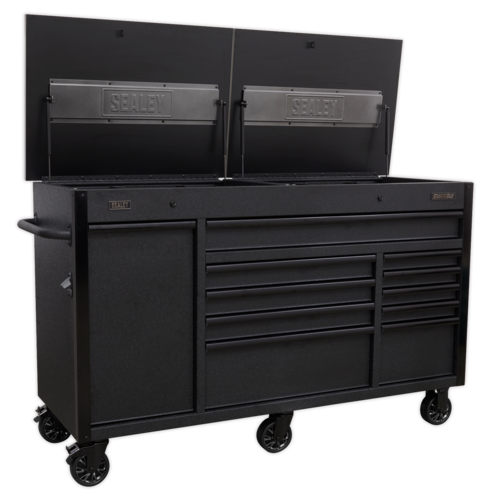 Mobile Tool Cabinet 1600mm with Power Tool Charging Drawer - Sealey - AP6310BE