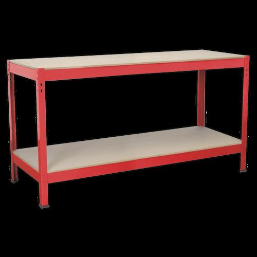 Workbench 1.53m Steel Wooden Top - Sealey - AP1535