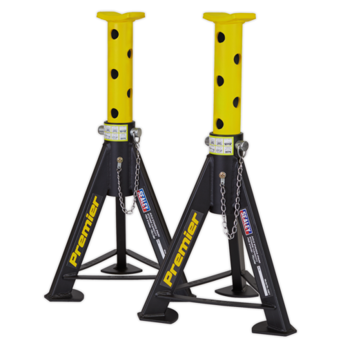 Axle Stands (Pair) 6tonne Capacity per Stand - Yellow - Sealey - AS6Y