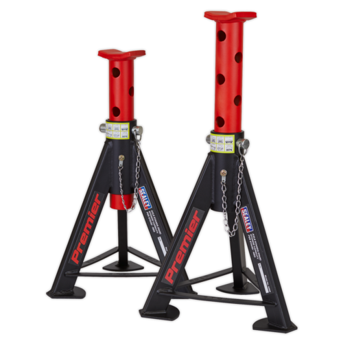 Axle Stands (Pair) 6tonne Capacity per Stand - Red - Sealey - AS6R