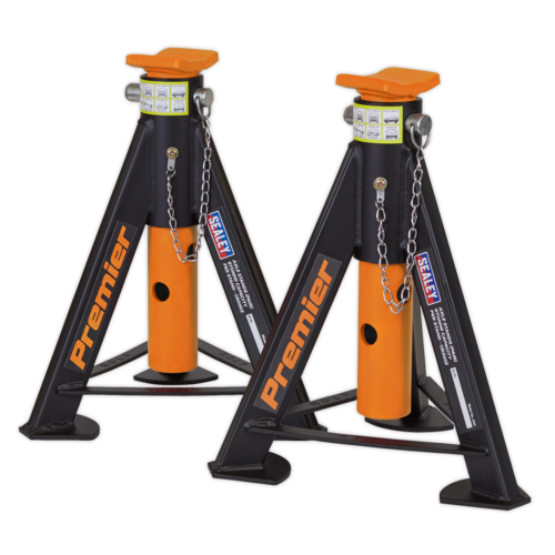 Axle Stands (Pair) 6tonne Capacity per Stand - Orange - Sealey - AS6O