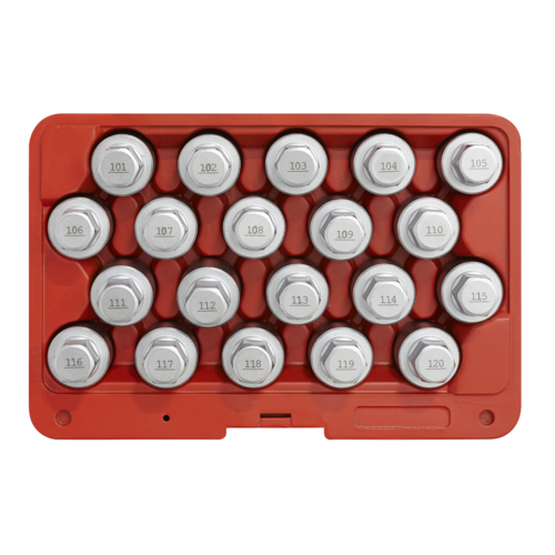 Locking Wheel Nut Key Set 20pc - Vauxhall-A - Sealey - SX214
