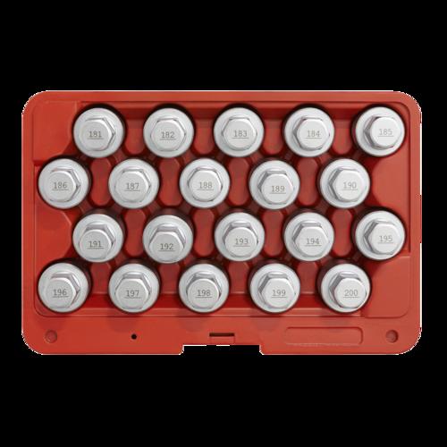 Locking Wheel Nut Key Set 20pc - Vauxhall-C - Sealey - SX216